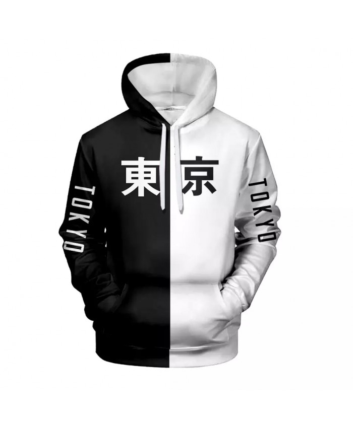 2021 Cool Tokyo City 3D Colorful Print Hoodies Women Men Fashion Harajuku Leisure Hooded Sweatshirt Pullover Autumn Clothes
