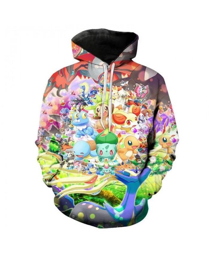 Men's Women's Children's Game Pokemon Hoodie 3d Printing Cute Cartoon Fashion Sweatshirt Casual Coat