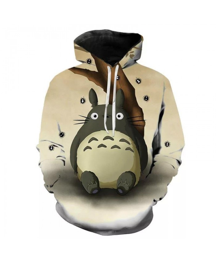 Totoro 3D Printed Hoodies Men Women Children Fashion Sweatshirts Clothes Boy Girl Kids Hooded Pullover Streetwear Casual Tops