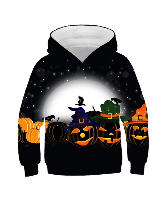 2021 Halloween Pumpkin Lanterns Newest Print Kids Hoodies Fashion Boys Girls Hoodie Pullover Child Costume Hoodies Sweatshirt