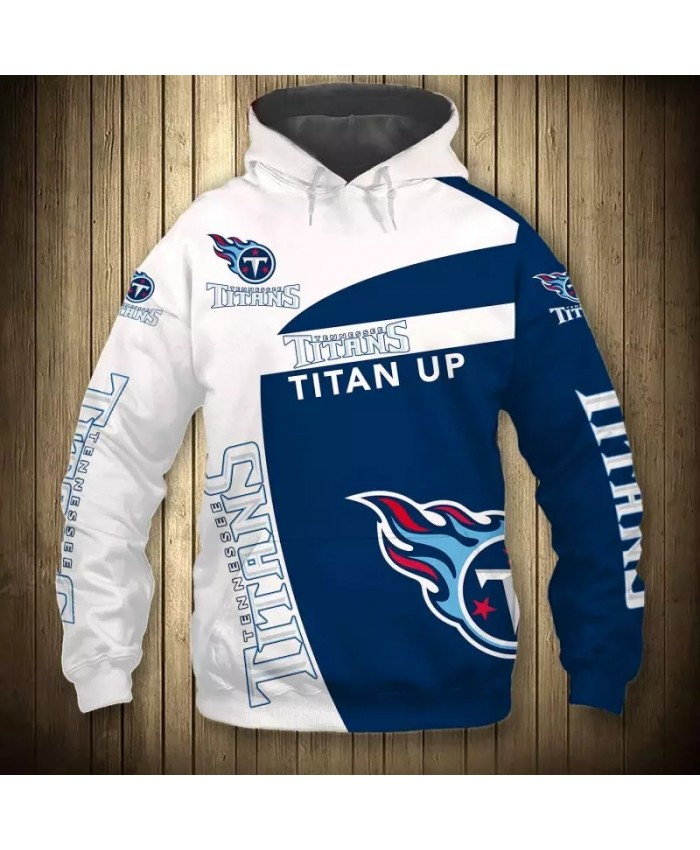 Tennessee fashion cool Football 3d hoodies sportswear Geometric mosaic design blue flame Titans sweatshirt