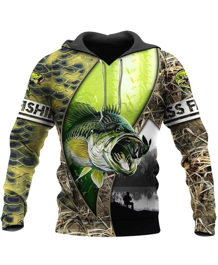New Fashion Hoodie Walleye Fishing Series 3D Printing Sweatshirt Hoodie Zipper Hoodie Unisex Street Casual Sweatshirt NO0005
