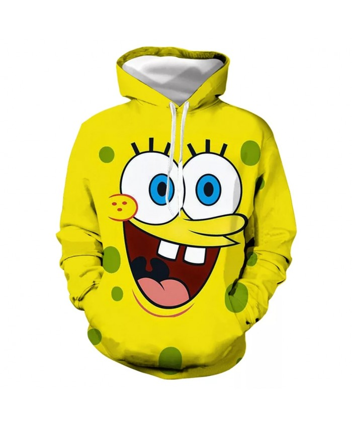 Fashion Autumn Cute Sponge Baby 3d Unisex Sports Hoodie Polyester 3d Printing Cartoon Hoodie 2021 New Hot