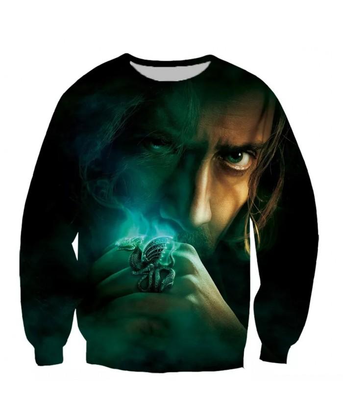 Nicolas Cage Cage Fashion Long Sleeves 3D Print Hoodies Sweatshirts Jacket Men women