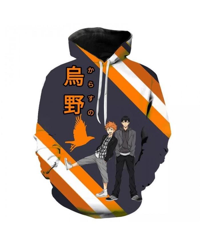 Anime Haikyuu Hoodies Men Women Children Casual Coat 3D Printed Streetwear Pullover Tops Girl Boy Cool Sweatshirts Fashion Coat