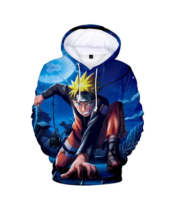 New 3D casual cartoon Naruto men and women hoodies popular children spring and autumn popular pullovers kids blue sweatshirts
