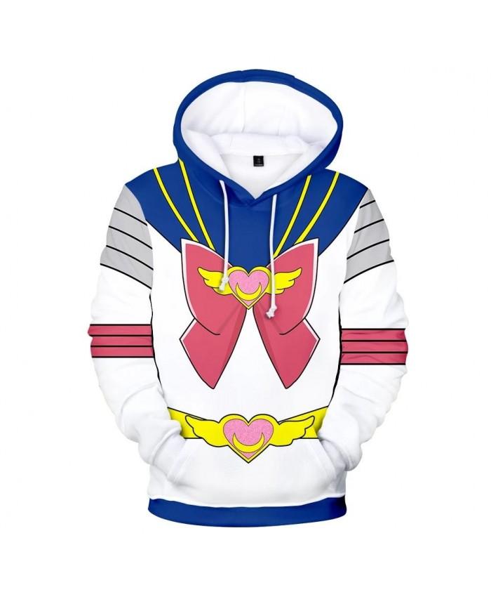 Hot 3D Sailor Moon Character Costume Hoodies Men Women Hoodie Children Sweatshirt Autumn 3D Sailor Moon boys girls blue pullover
