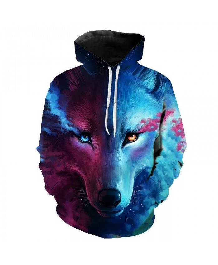 Fashion Men Wolf Animal 3D Printed Hooded Hoodies Men Women's Shinning Wolf Design Sweatshirts 3D Harajuku Hoody Boys 2021