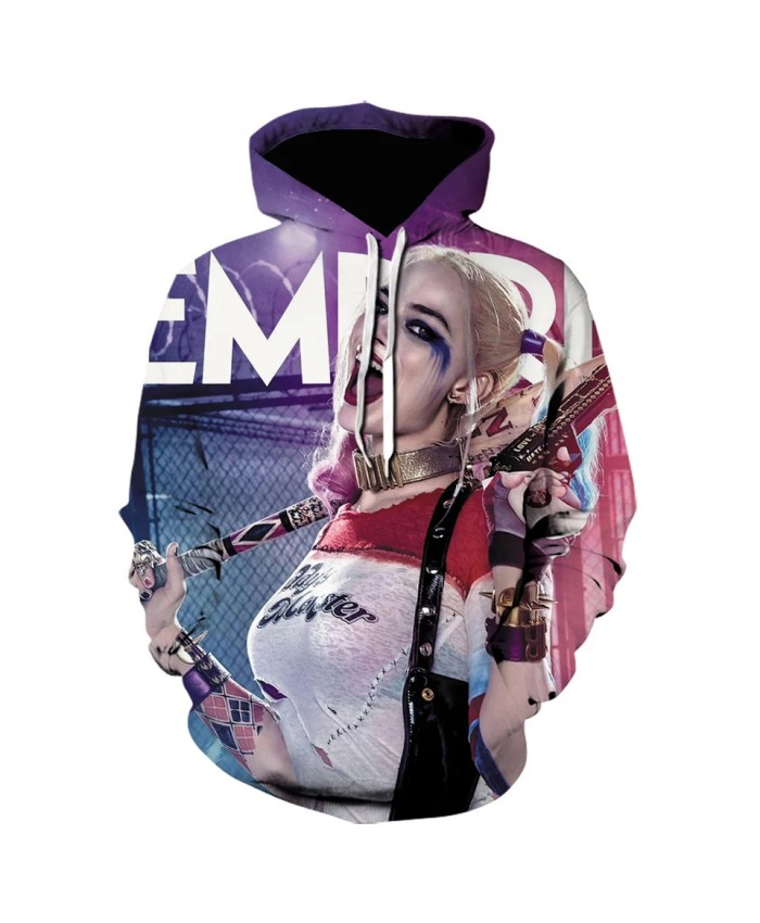 2021 Fall New Suicide Squad Wild Harley Quinn 3d Printed Men's And Women's Hoodie Fun Street Hip Hop Harajuku Pullover