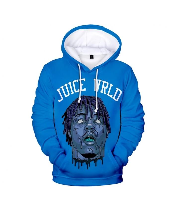 Popular 3D printed Juice WRLD Hoodies Men Sweatshirts Women Harajuku Pullover Suitable 3D Juice WRLD boys girls blue Hooded