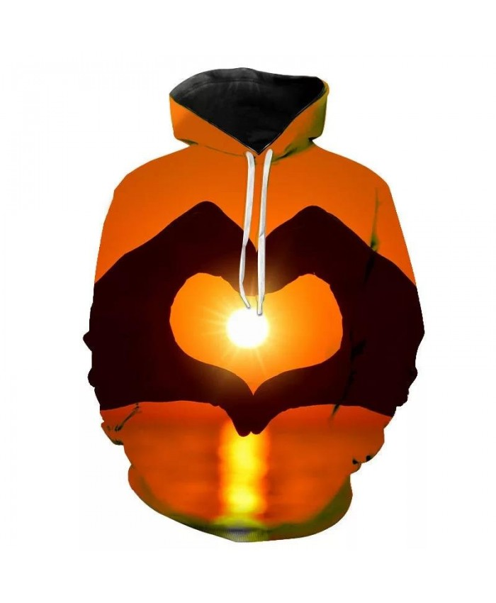 New 3D Printed Love Hoodies Valentines Cool Lovers Sweatshirts Men Women Heart Hoodie Streetwear Boy Girl Kids Pullover Hoody