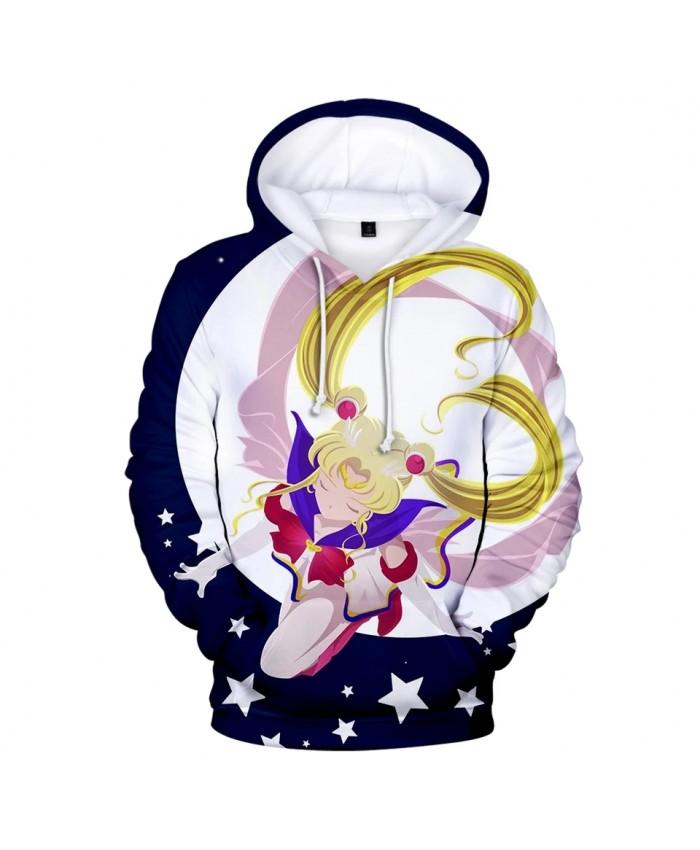 Rholycrown Hot Anime Sailor Moon Hoodies Women Men Winter Pullovers 3D Hooded Oversized Sweatshirts Sailor Moon girl's 3D Hoodie