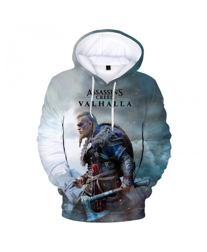 Assassins Creed Valhalla 3D Print Hoodie Sweatshirts 2021 Hot Game Harajuku Oversized Hoodies Men Women Fashion Casual Pullover