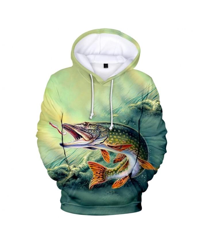 Popular Hoodies 3D fish men women Sweatshirts Fashion print fish hooded Tops casual boy girls autumn winter pullovers