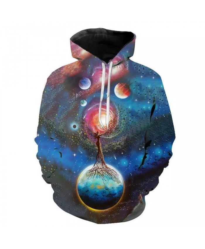 Cool Funny Universe Planet Space Galaxy Astronaut 3D Hoodies Men Women Children Moon Print Star Sky Boy Girl Fashion Pullover