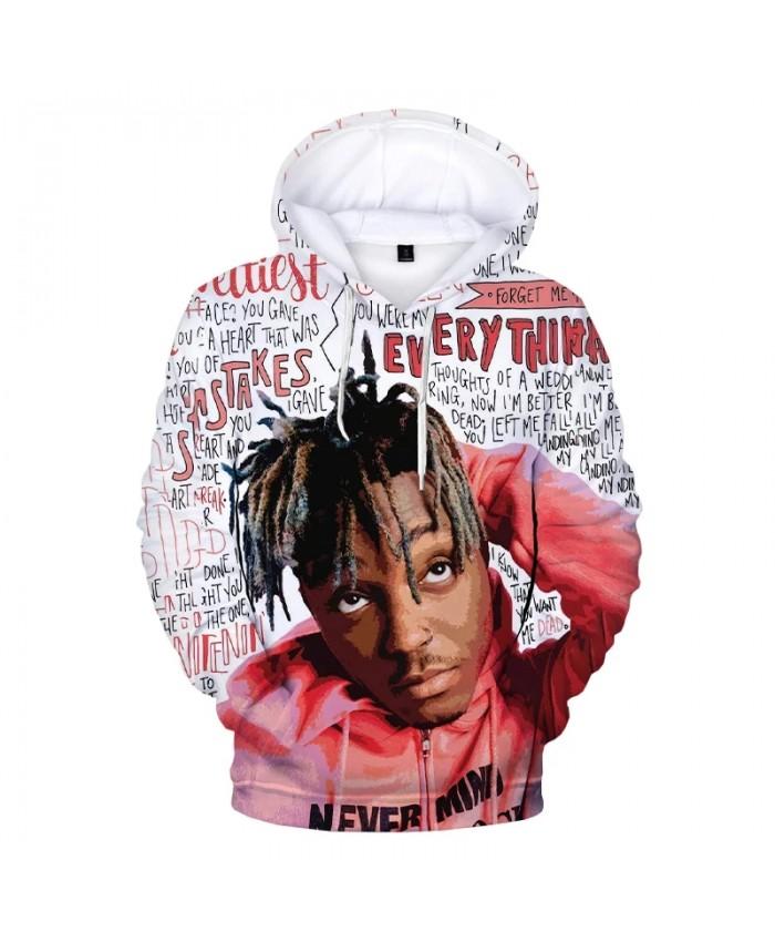 Juice WRLD 3D Print Hoodie Sweatshirts Rapper Harajuku Streetwear Hip Hop Hoodies Men Women Autumn Fashion Casual Cool Pullover