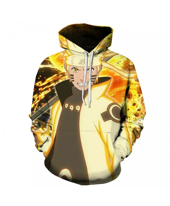 Spring And Autumn Cool 3d Printed Men's And Women's Hoodie Children's Cartoon Anime Naruto Pullover Casual Sportswear Coat