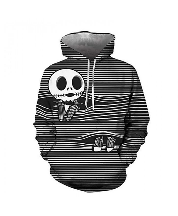 Halloween Hoodies The Nightmare Before Christmas 3D Print Sweatshirts Cartoon Men Women Fashion Hoodie Jack Skellington Pullover
