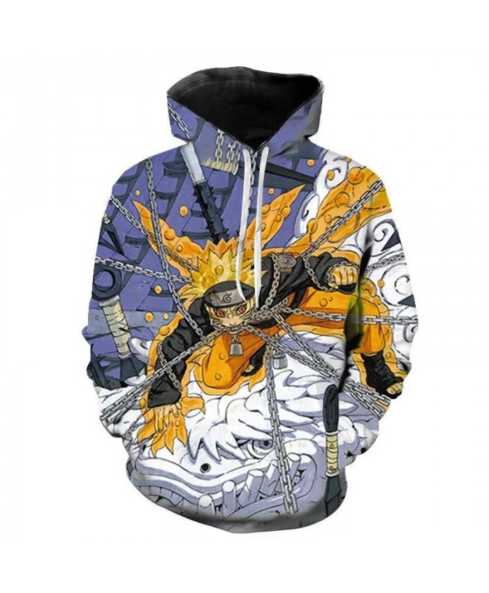 3d Printing Men's And Women's Children's Fashion Hoodies Anime Naruto Autumn Sweatshirt Casual Long-Sleeved Tops