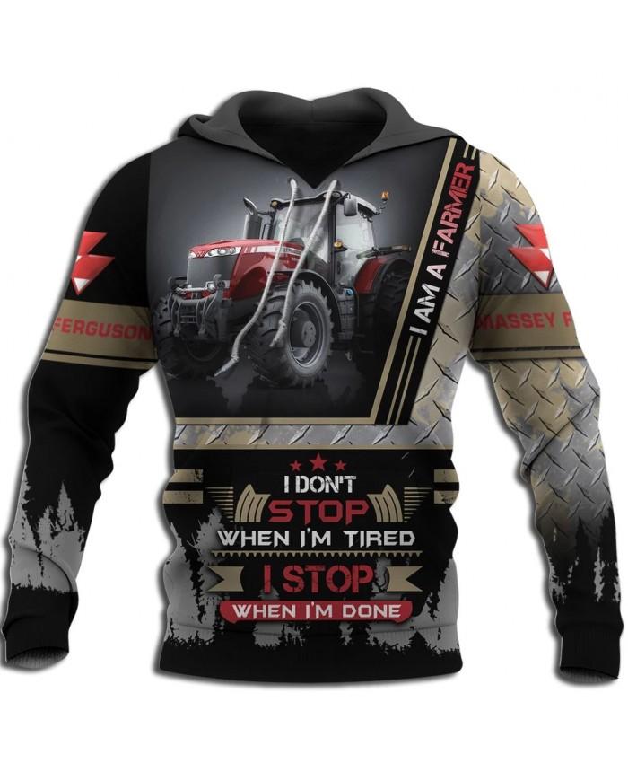 New fashion beautiful tractor art 3D printed sweatshirt hoodie zipper hoodie fun unisex casual street sweatshirt