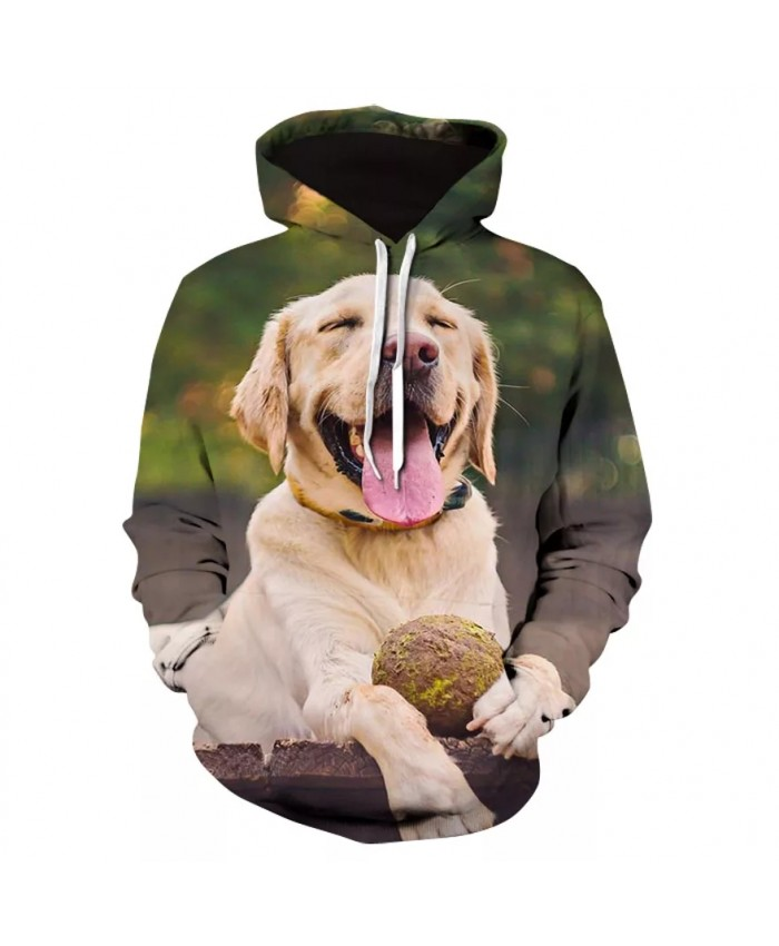 High-quality 3D printed hoodies for men and women's casual long-sleeved hoodies new design for men's animal dog hoodies