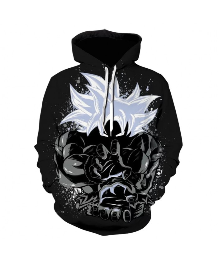 Hot Selling Anime Dragon  3D Print Hoodie Super Saiyan Goku Sweatshirts Teen Boy Cartoon Hoody Pullover Black Jacket Cosplay