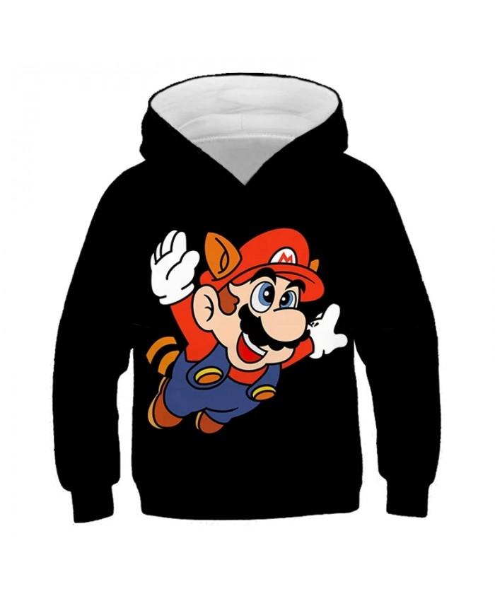 Cute 3D Print Kids Hoodies Game Super Mario Bros Hoodie Sweatshirt Boys Girls Clothes Outerwear Coat Children Clothing 4-14Y