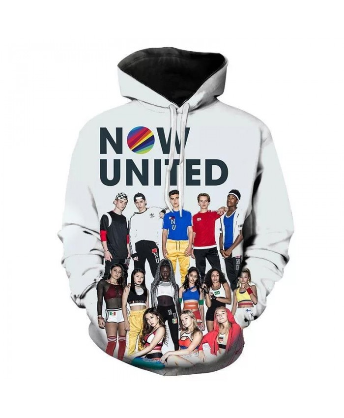 2021 New Men Women Children Now United Hoodies Casual Fashion 3D Printed Pullover Hooded Sweatshirts Boy Girl Casual Hoody Tops