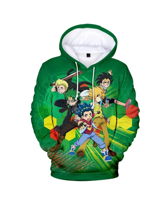 New Beyblade Burst Evolution 3D Hoodies men women Sweatshirt Fashion Harajuku Hip Hop Kids Hooded 3D green boys girls pullovers