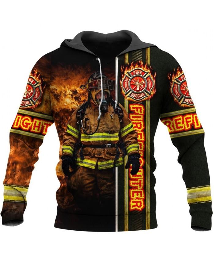 New fashion hoodie hero fireman 3D printed sweatshirt hoodie zipper hoodie unisex casual sports top
