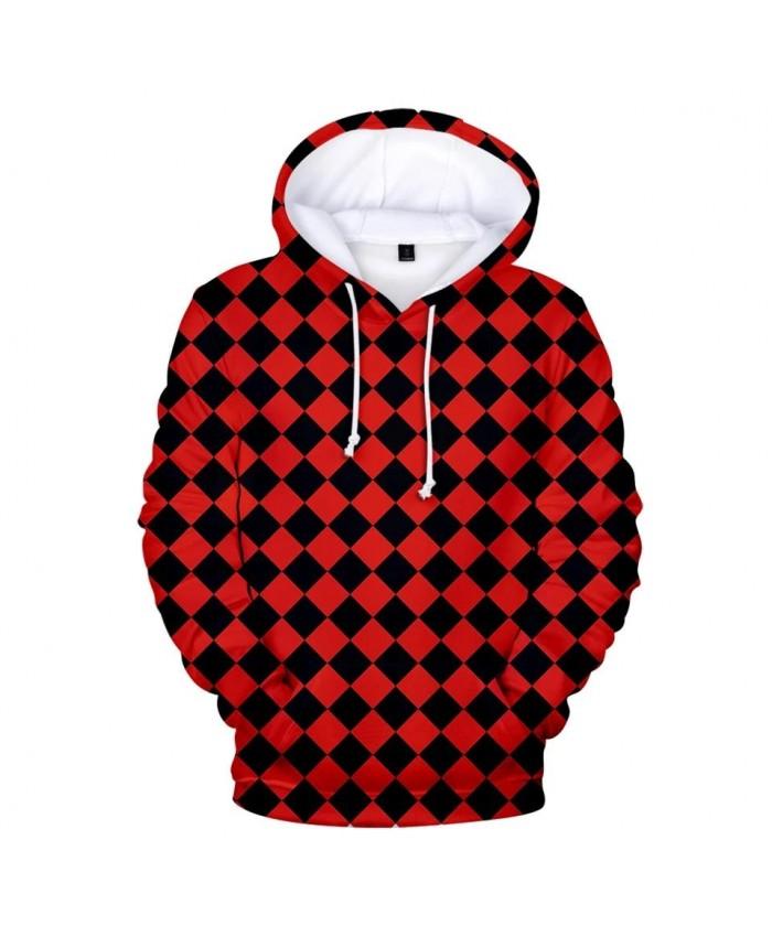 Print Red and black plaid Ghost Blade 3D Hoodies Men Women Streetwear Autumn Sweatshirt 3D Kids Demon Slayer children Hooded