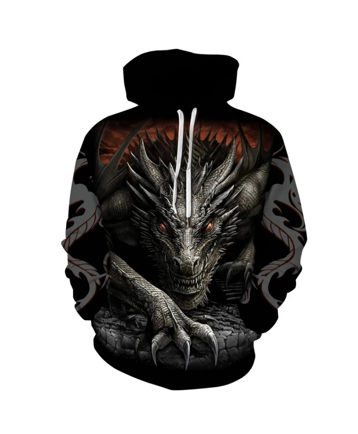 2021 Unisex Clothes Dragon Printed 3D Hoodies Cool Sweatshirt Autumn Winter Casual Hooded Top Plus Size S-3XL