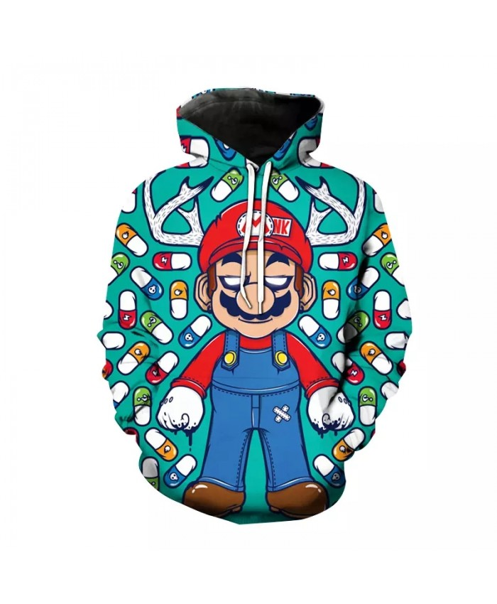 Spring And Autumn New Boys And Girls Hoodie 3d Printing Game Mario Kids Cartoon Sweatshirt Fashion Casual Top