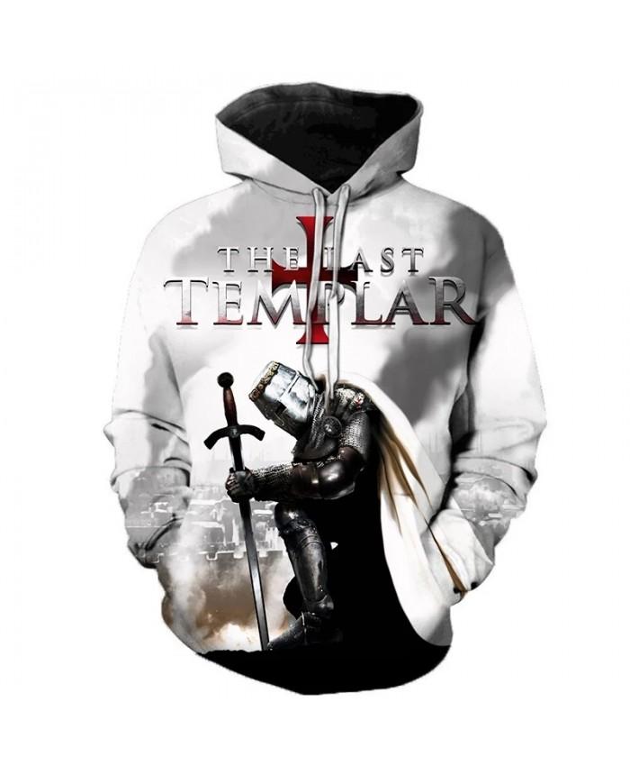 Newest Knights Templar 3D Printed Hoodies Men Women Fashion Casual Hooded Sweatshirts Streetwear Oversized Pullover Outerwear