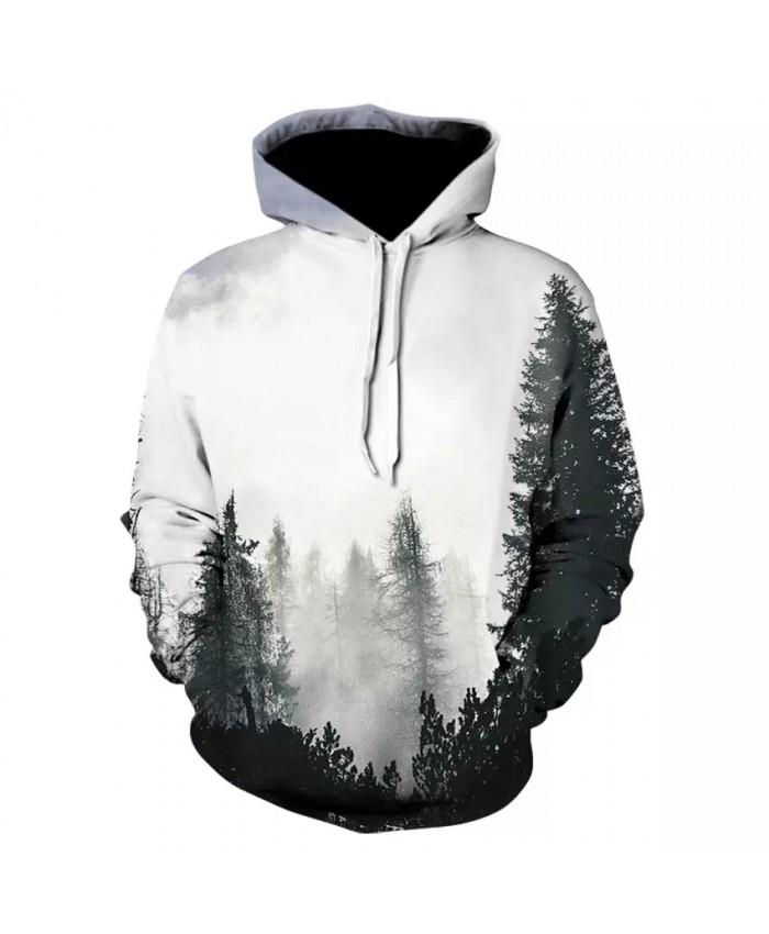 2021  Fashion Autumn Winter Men women Sweatshirts With Hat 3D Print Trees Hooded Hoodies Wholesale Moletom Sudadera Hombre