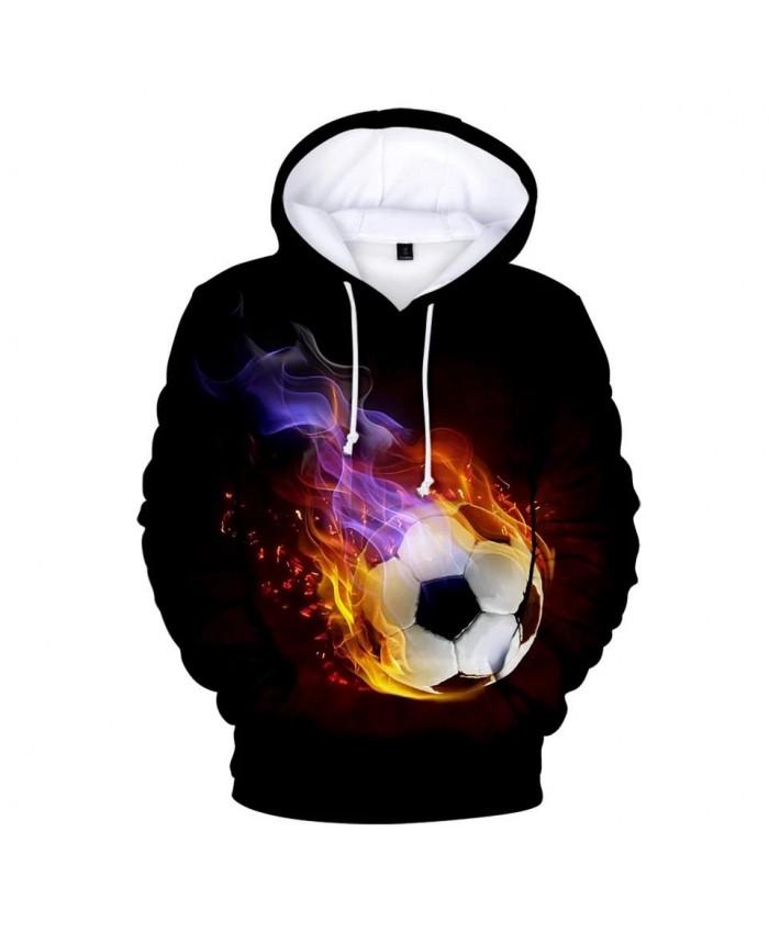 Casual printed 3D football soccer Hoodies Men Women Sweatshirts Fashion Autumn Kids Hoodie Suitable boys girls black pullovers