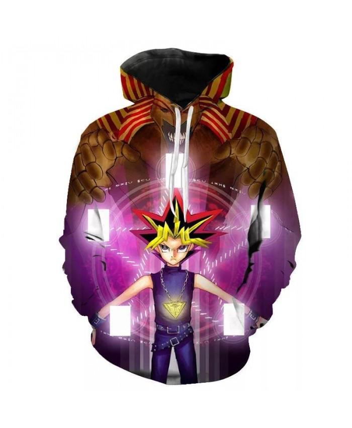 New Fashion 3D Print Hoodies Funny Unisex Hoodies Yu-Gi-Oh Print Hotstyle Pullover Sleeve Streetwear Sweatshirt Hoodie Hip Hop