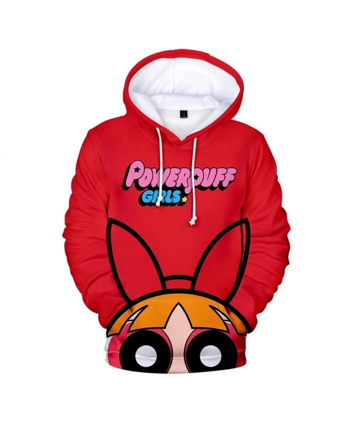 Kawaii Powerpuff Cute Girls 3D Hoodie Sweatshirts Women Long Sleeve Hooded Tops Harajujku 3D Cartoon Print Hoody Girls Pullovers