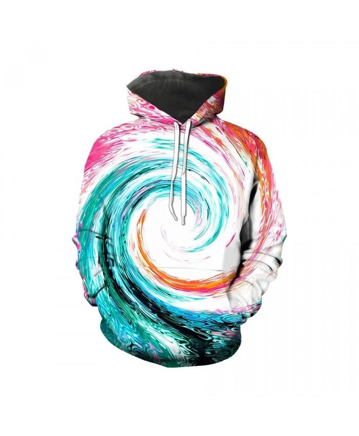 Trend hot selling Unisex men's 3D printed Sweatshirt Hoodie creative kaleidoscope casual long sleeve men's Hoodie Sweatshirt