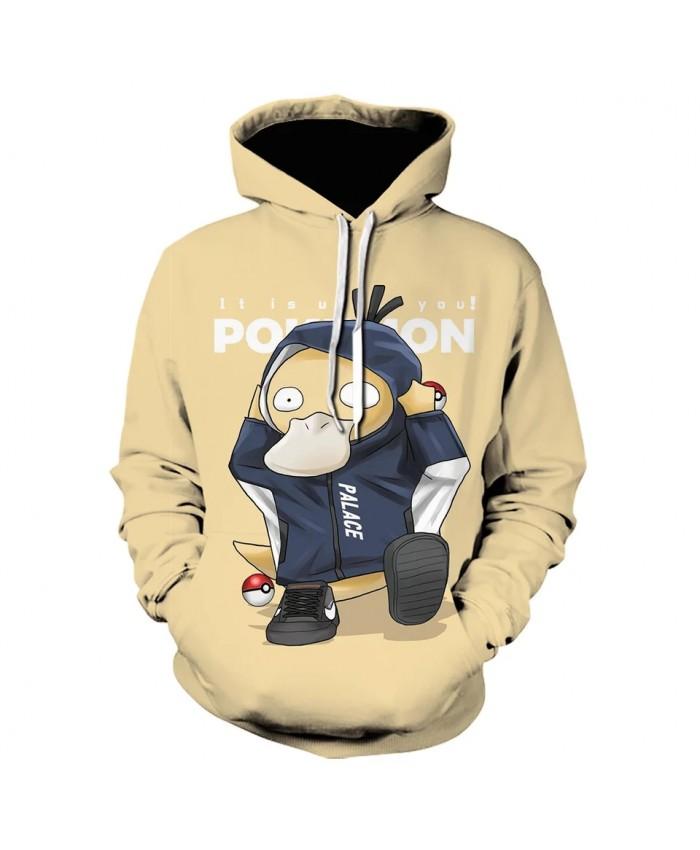 Spring and Autumn New 3D Printing Pokemon Men's and Women's Hoodie Children's Fashion Cartoon Anime Sweatshirt Top