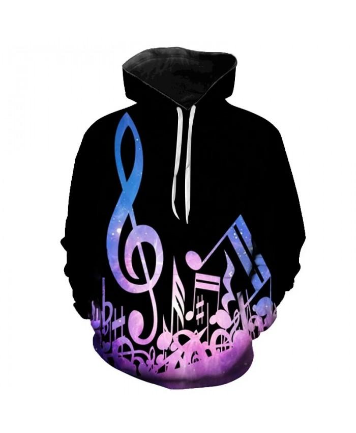Music Notes 3D Printed Hooded Sweatshirts Fashion Hip Hop Music Guitar Long Sleeve Pullover Men Women Casual Streetwear Hoodies