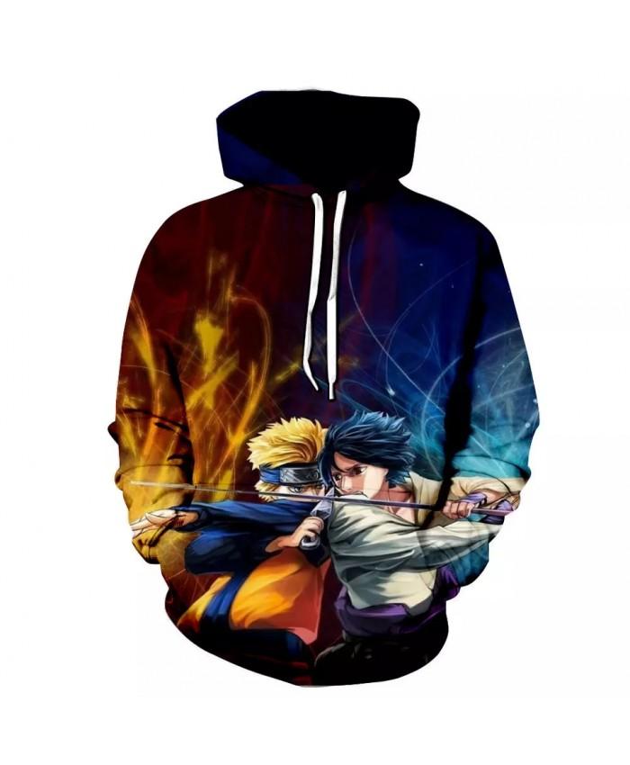 Naruto Sasuke Uchiha Hoodies Men Women Cartoon Sweatshirts 3D Printed Anime Naruto Hoody Teens Cool pullover Hip Hop Streetwear