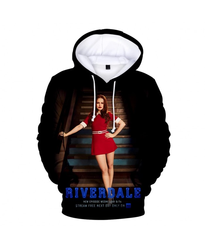 Hot TV series Riverdale Hoodies Men Women Winter pullovers Oversized Kids Sweatshirts Riverdale 3D Hooded boys girls black Tops