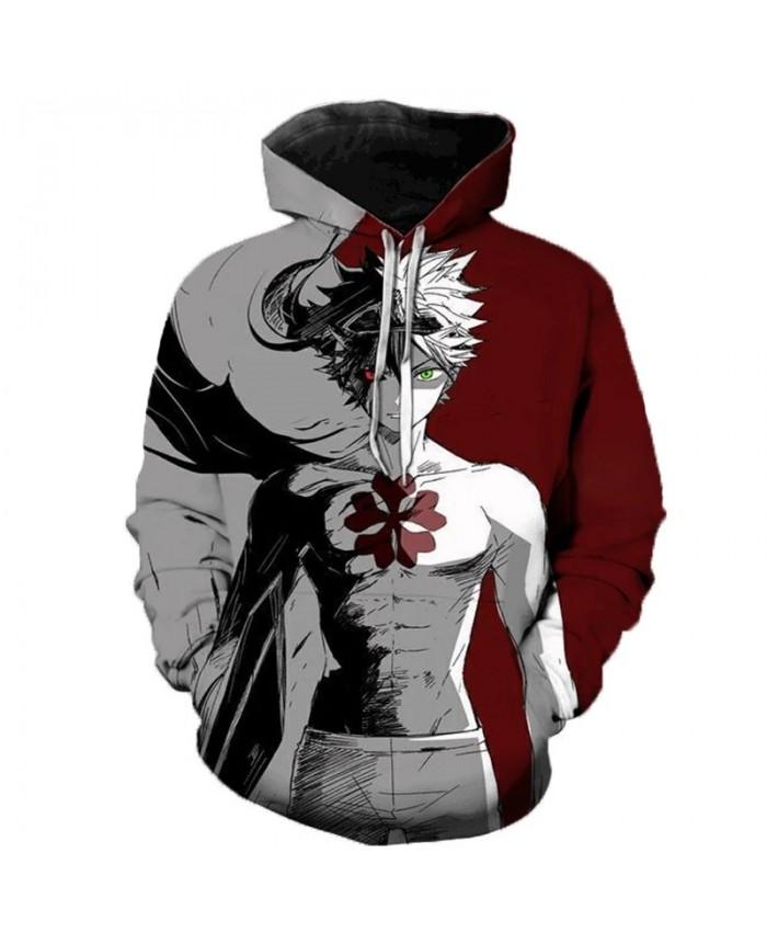 Hot Sale Anime Black Clover 3D Printed Hoodie Men Fashion Cartoon Hooded Sweatshirts Men Women Men Women Halloween Streetwear