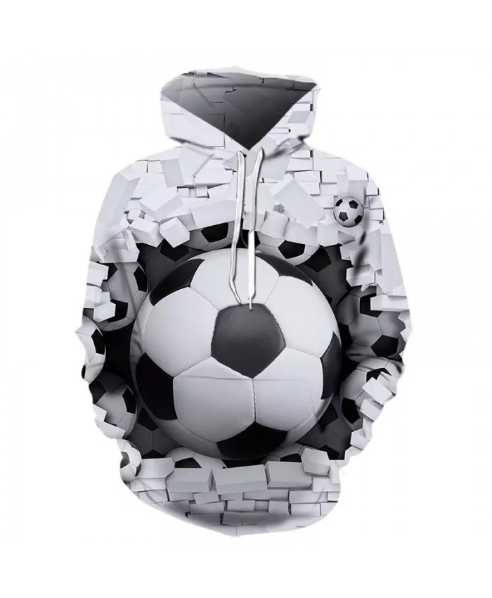 2021 Fall/Winter Hot Men's And Women's Hoodie 3d Football Hoodie Sweatshirt White/Black Hoodie Long Sleeve Fashion Hoodie Hoodie
