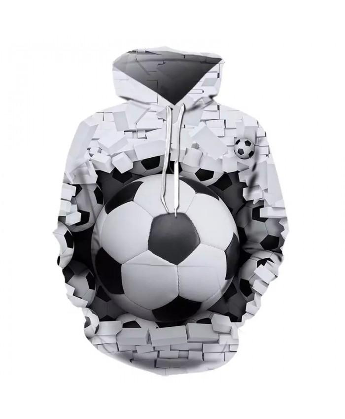 2021 Fall/Winter Hot Men's And Women's Hoodie 3d Football Hoodie Sweatshirt White/Black Hoodie Long Sleeve Fashion Hoodie Hoodie