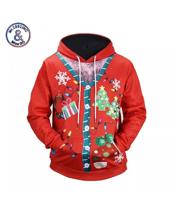 2021 3D Hoodies Christmas Holiday Sweatshirt Men Women New Fashion Hip Hop Unisex Pullover Autumn Winter Tops