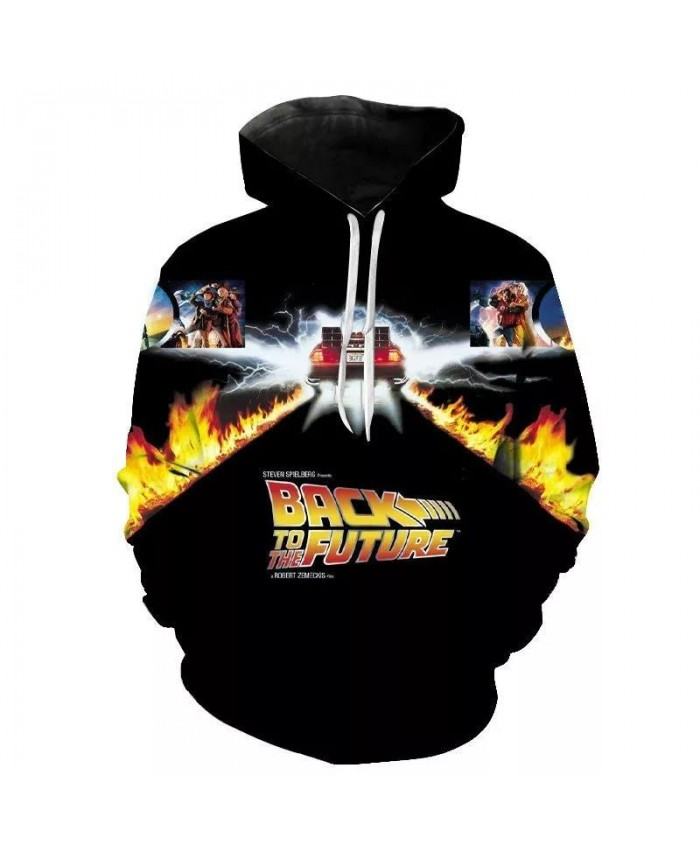 Back To The Future Printed 3D New Hoodies Men Women Children Fashion Long Sleeve Hooded Sweatshirts Streetwear Clothes Coat New