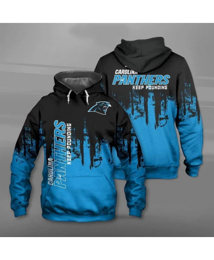 Carolina fashion cool Football 3d hoodies sportswear Black blue stitching graffiti black leopard print Panthers sweatshirt