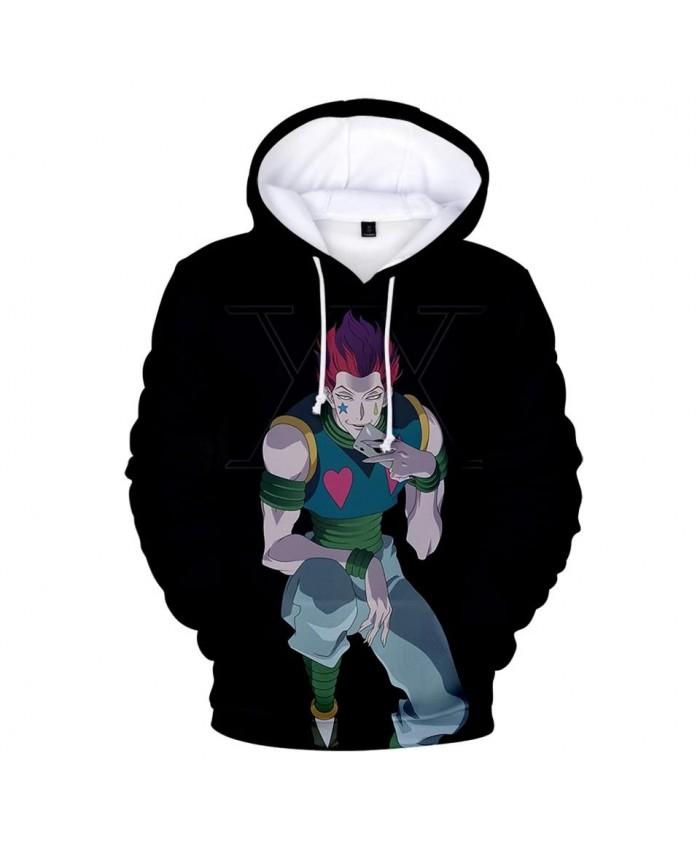 Black Hooded 3D Hisoka Hoodies Sweatshirts Men Women Hoodie Fashion Harajuku Autumn Kids 3D Comic Hisoka boys girls pullovers
